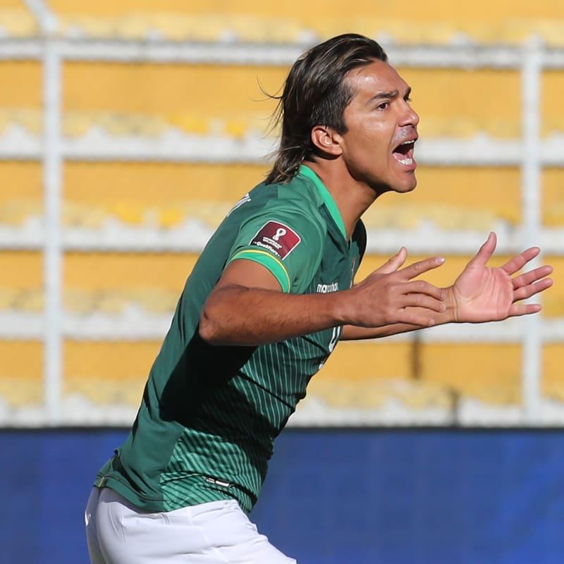 Marcelo Moreno Martins of Bolivia celebrates after scoring