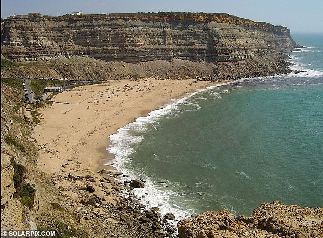 The tragedy happened just after 2pm on Thursday at Calada Beach in Encarnacao about an hour's drive north-west of Lisbon