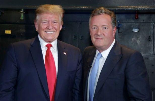 Trump with ex-Good Morning Britain host Piers Morgan