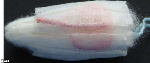 The treated fibers turned bright pink during testing, indicating the presence of a yeast infection