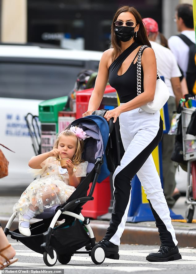 Girl time: The Russian beauty was seen picking up daughter Lea de Seine from school