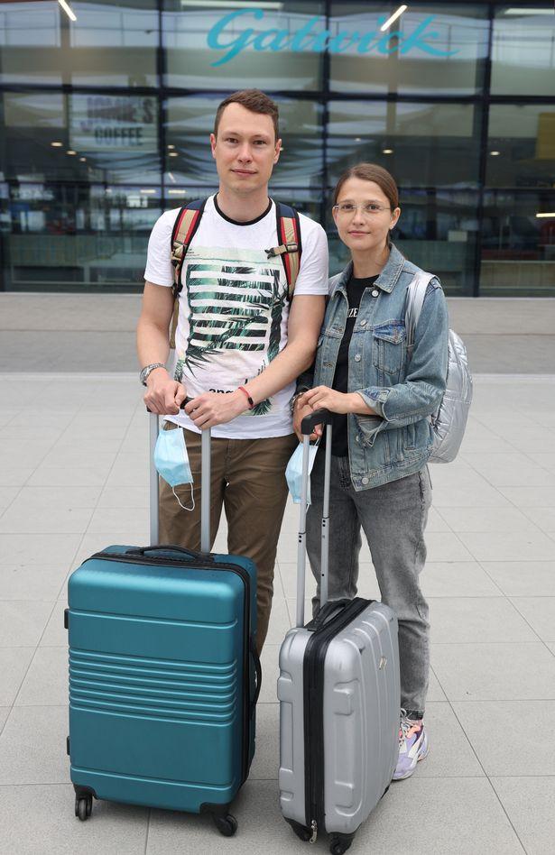 Andrew Kosovets, 34 and Irina Kosovets, 33 heading to funchai