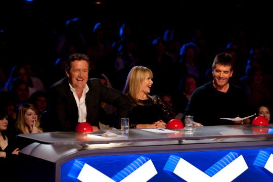 Britain's Got Talent stars Piers Morgan, Simon Cowell and Amanda Holden