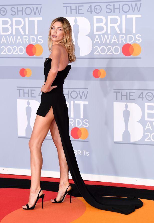 Abbey Clancy attends The BRIT Awards 2020 at The O2 Arena on February 18, 2020