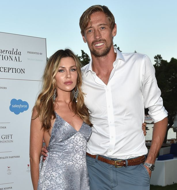 Abbey Clancy and Peter Crouch attend the Welcome Dinner prior to The Costa Smeralda Invitational golf tournamen at Pevero Golf Club