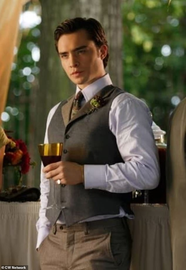 Devoted:'Okay here¿s the tea¿ I was the biggest Gossip Girl fan known to man, I watched it religiously twice a year and I swear to god I manifested him actually in my life' (pictured Ed as Chuck Bass)