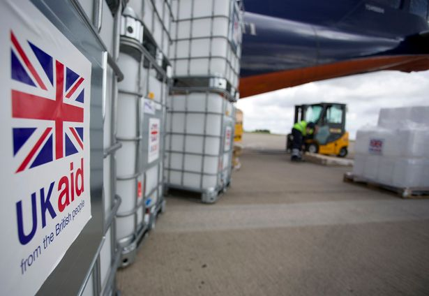 File photo dated 13/8/2014 of cargo from UK Aid waiting to be loaded on to an Antonov An-12B aircraft at East Midlands Airport