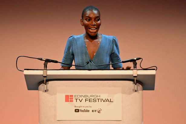 The actress at the Edinburgh International Television Festival in 2018