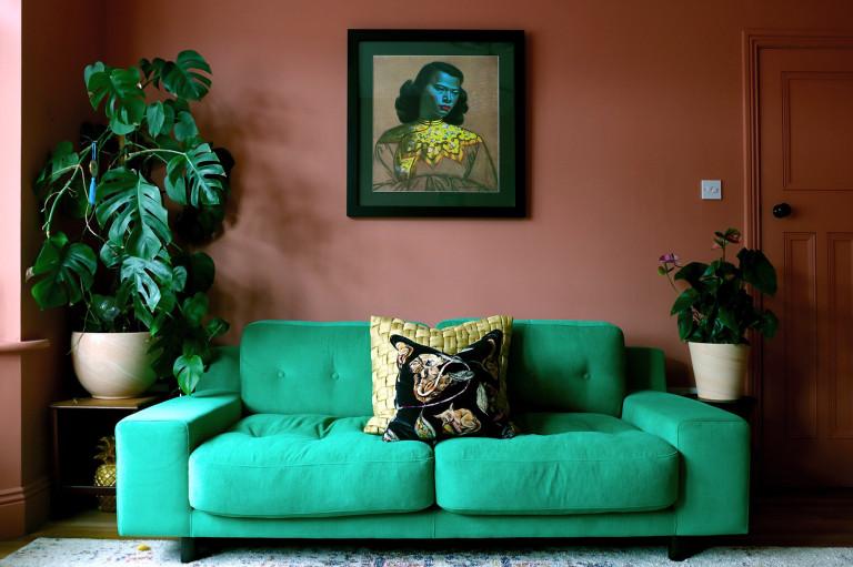 What I Own: Kasia - a green sofa