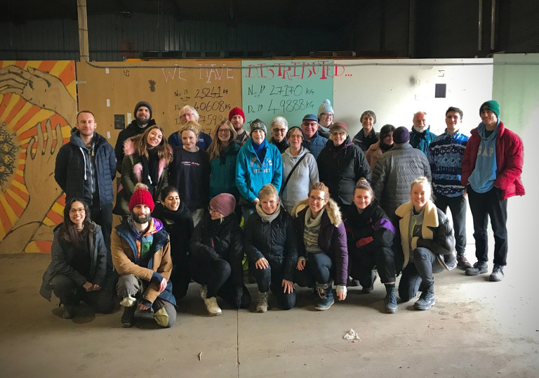 Sol and other volunteers in Calais