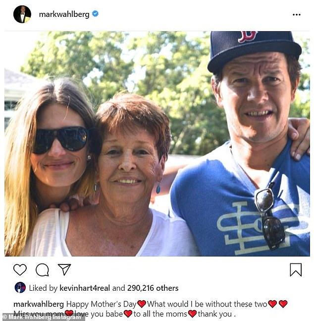 Mother's Day tribute: Since her passing, the actor and producer has posted a number of tributes to his mother, including when he marked this most recent Mother's Day with a photo of himself, is mom, and wife Rhea Durham