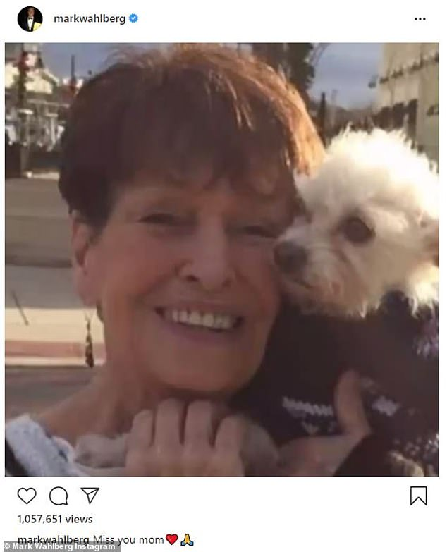His angel: Wahlberg also shared a slideshow of images of his mom on Mother's Day