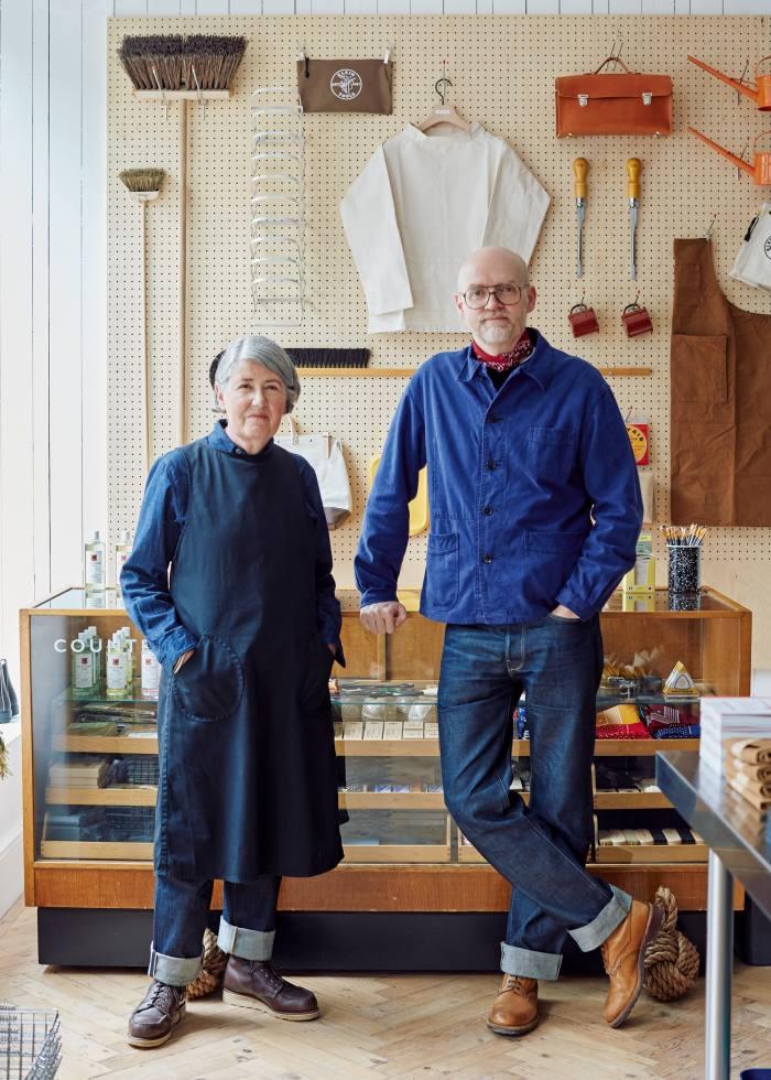 Rachel Wythe-Moran and Simon Watkins in theirnew shop on Dorset Street, London