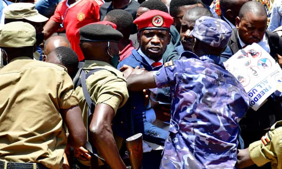 Bobi Wine being detained in Kampala