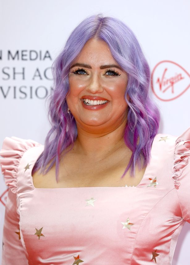Ellie Warner shows off her new lilac hair on the BAFTAS TV Awards red carpet