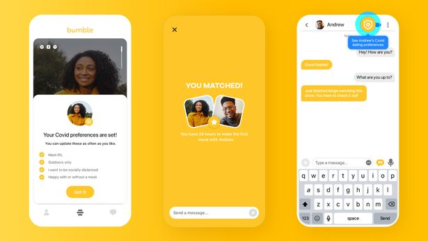 Dating apps like Bumble will let people add a 'vaccinated' badge to their profile