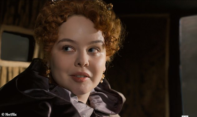 Drama: Bridgerton's Lady Whistledown shock twist, which revealed Penelope Featherington (Nicola Coughlan, pictured) as the mysterious gossip, was also on the shortlist