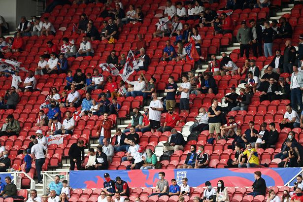 Sections of the crowed jeered the gesture