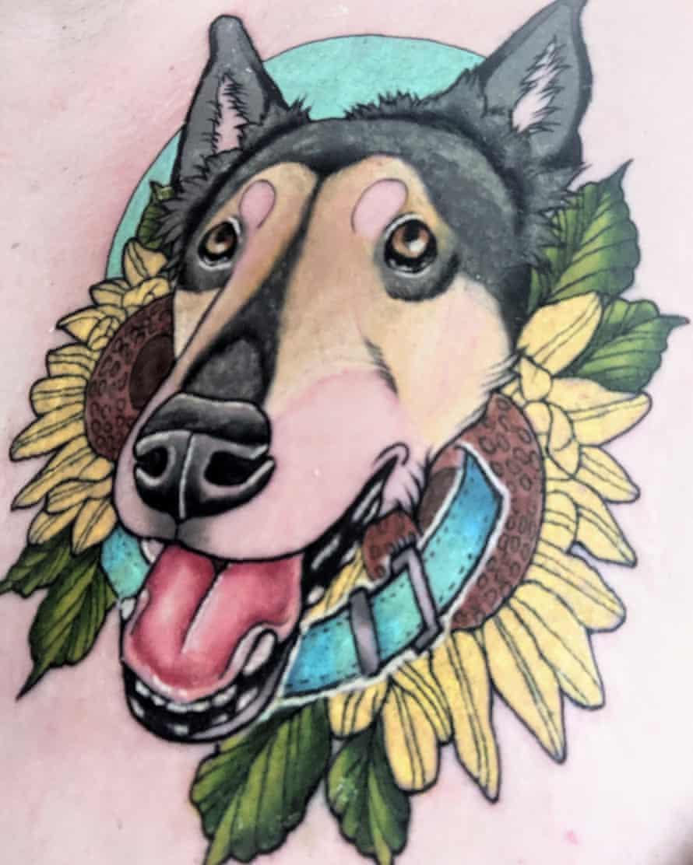 Dionne's dog Cain