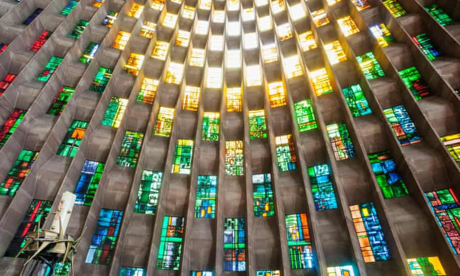 The Baptistery Window in Coventry Cathedral.