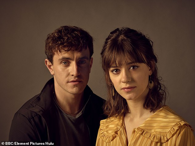 Coming-of-age drama: First-time nominee Paul Mescal scooped the gong for Leading Actor for his performance as Connor in Normal People (pictured with co-star Daisy Edgar Jones)