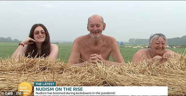 Nudist life: Speaking from a field in Doncaster, Carol and Colin Wood along with their daughter Angie explained why they preferred life without clothes