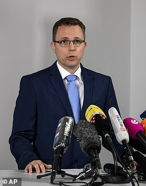 First Prosecutor Hans Christian Wolters addresses the media on the Madeleine McCann case in Braunschweig