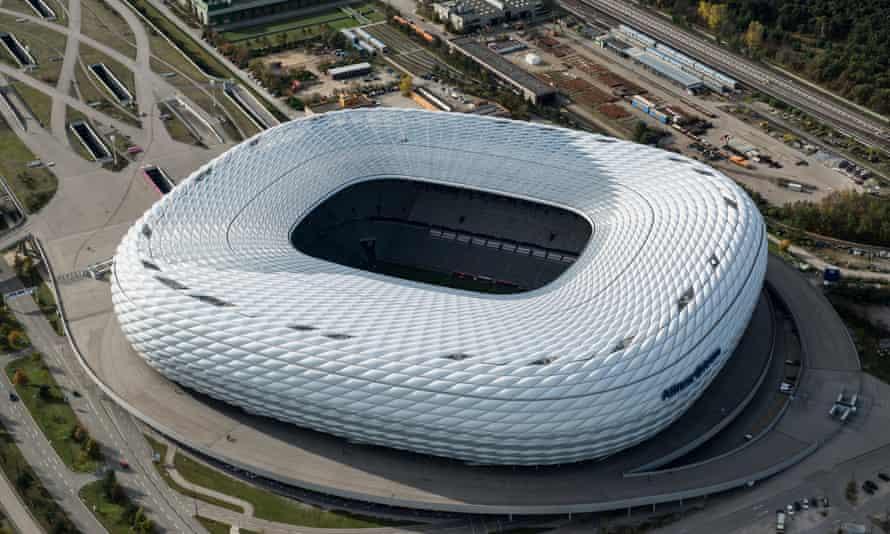 Aerial view of the stadium.