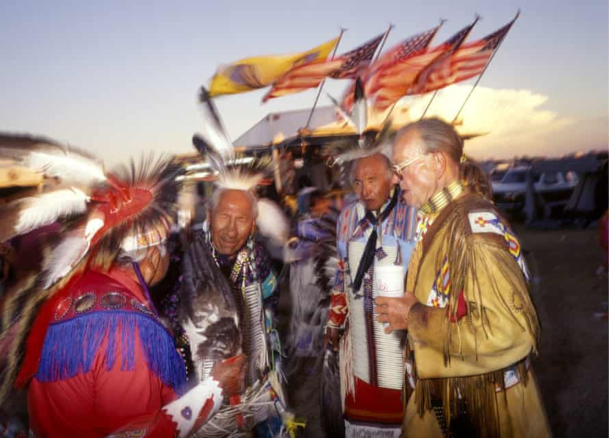 The Sioux Lakota in Rosebud Reservation in the US. Most speakers of the Lakota language are over the age of 70, and there are fears it will die out.