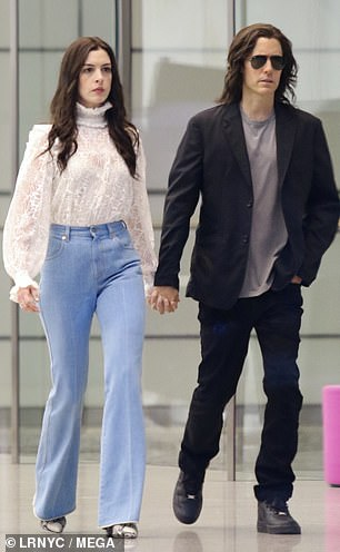 In character: The starry pair were seen holding hands on set while filming the Apple TV+ series near the World Trade Center area in downtown New York City