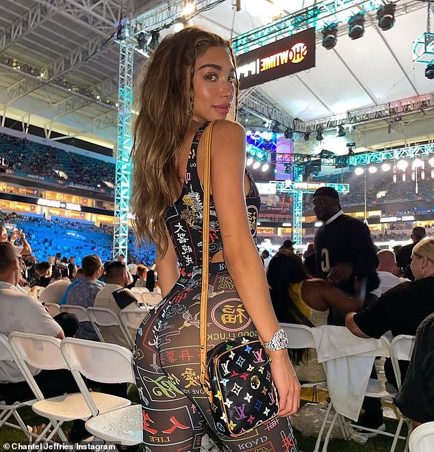 Eye catching:Hours earlier, Chantel attended the Floyd Mayweather Logan Paul boxing matching at Miami Gardens, Florida. She shared s snap of herself while in attendance, rocking a see through number