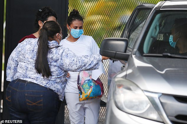 Rogel left the prison, where she served nine years, on Monday before being embraced by her mother