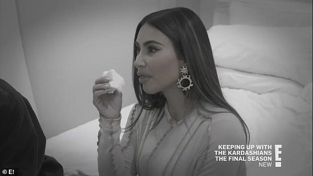 Feeling down:'I feel like a f***ing failure that it's, like, a third f***ing marriage. Yeah, I feel like a f***king loser,' Kim cried as her sisters tried to console her