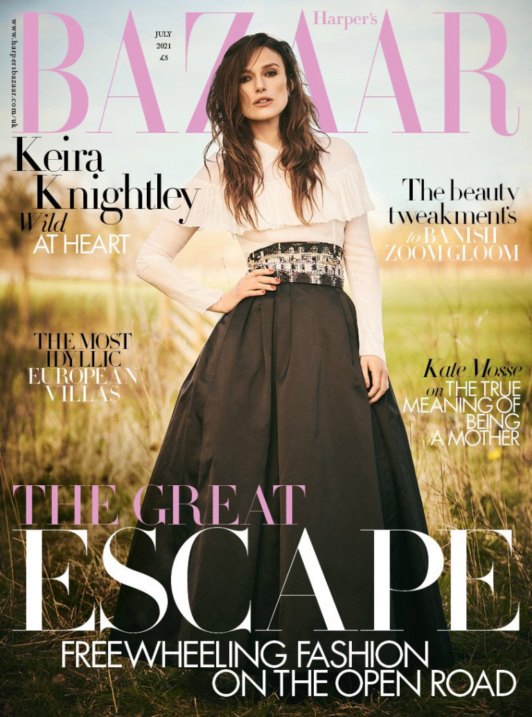 KEIRA KNIGHTLEY GRACES THE JULY COVER OF HARPER?S BAZAAR UK - Under Embargo until 00.01 (GMT) Tuesday 8 June 2021