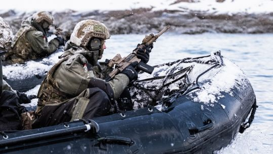 Cover image: Royal Marines during cold weather training exercises(Picture:MOD).