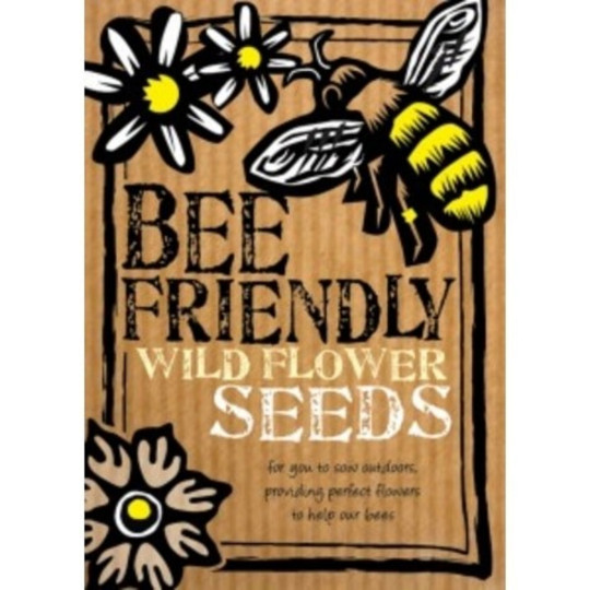 Sow these seeds in your window boxes, garden, allotment or any open green space to attract, feed and save bees. They produce high-quality, pollen-rich wild flowers such as Cornflower, Corncockle, Corn Chamomile and Corn Poppy. Perfect for pollinators, they?re pesticide and insecticidefree. Bee Friendly Seeds, ?2.