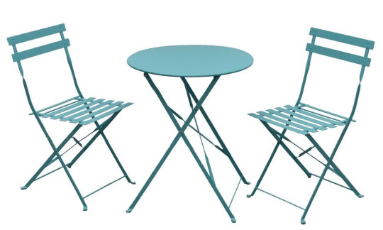 These bistro sets will add a touch of fun to your alfresco dining. Perfect for balconies, patios or a cosy space in a bigger garden, they can easily be moved to the perfect spot to catch summer rays. Metal Garden Bistro Set (in peach, blue or lime green), ?69.99