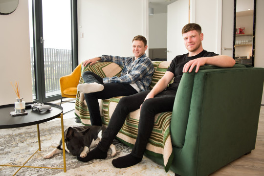 MACAULAY COOPER AND RICHARD YOUNG, BOTH 27 RENT: TWO-BEDROOM FLAT IN MANCHESTER, ?1,005 A MONTH