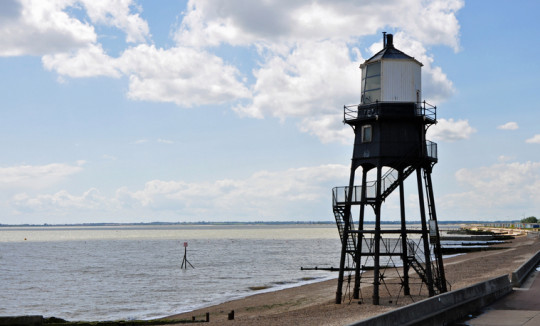 Lighthouse on Dovercourt beach / bay / promenade,near Harwich