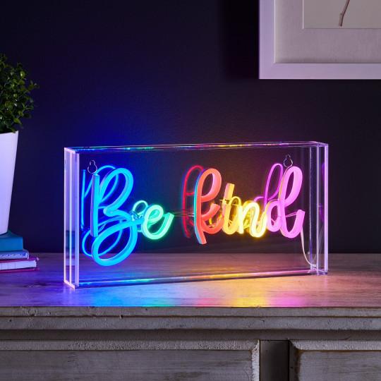 Be Kind Neon Light