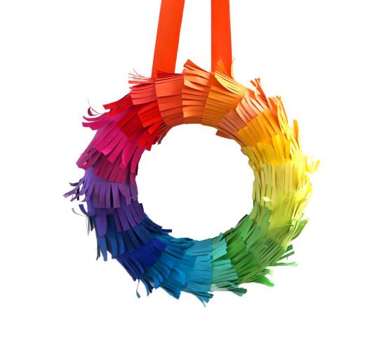 Rainbow Wreath Kit