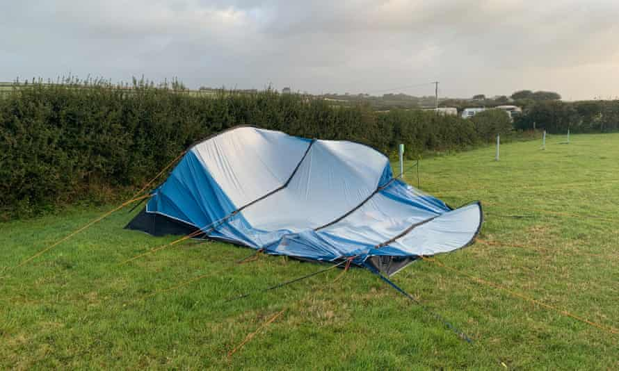 'On the third night, the tent collapsed.