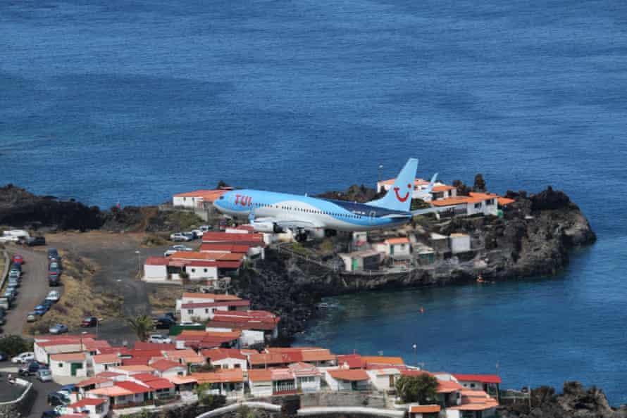 'When I booked the flights, I mistook La Palma for Palma' … a plane at La Palma airport.
