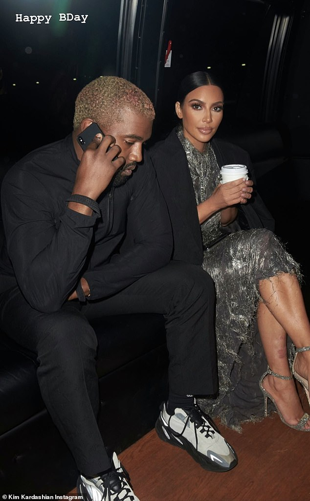 Their past:And here also was an image of Kim and Kanye together in glam attire as she said, 'Happy Bday'