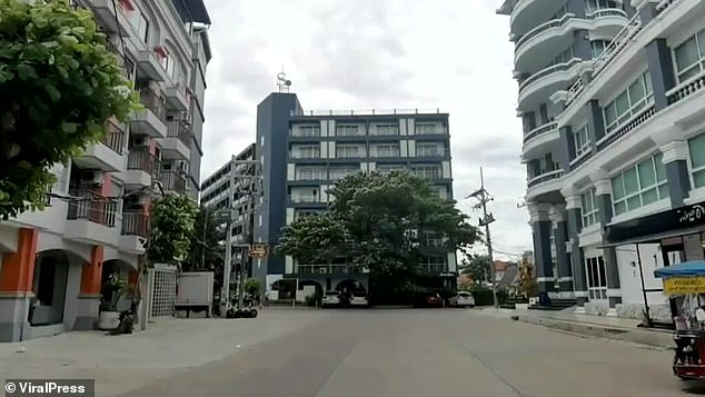 The British man had arrived in Thailand during the pandemic as a tourist, and had been staying on the fifth floor of theSo Boutique Hotel (pictured)