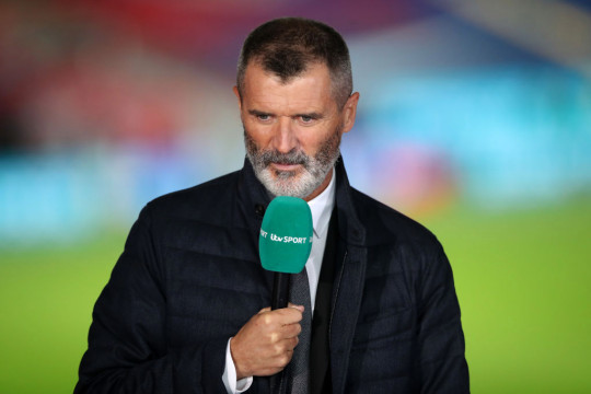 Roy Keane looks on during England's friendly with Wales