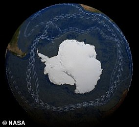 Pictured: theAntarctic Circumpolar Current, showing branches connected to the global 'conveyor belt' of circulation