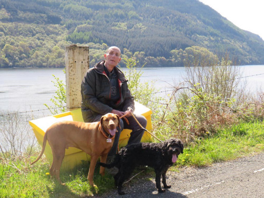 Mick on his dream fishing trip in Scotland in May 2021. PA REAL LIFE/COLLECT