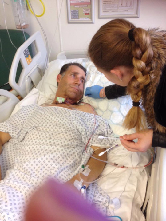 Phoebe and Mick in hospital. PA REAL LIFE/COLLECT