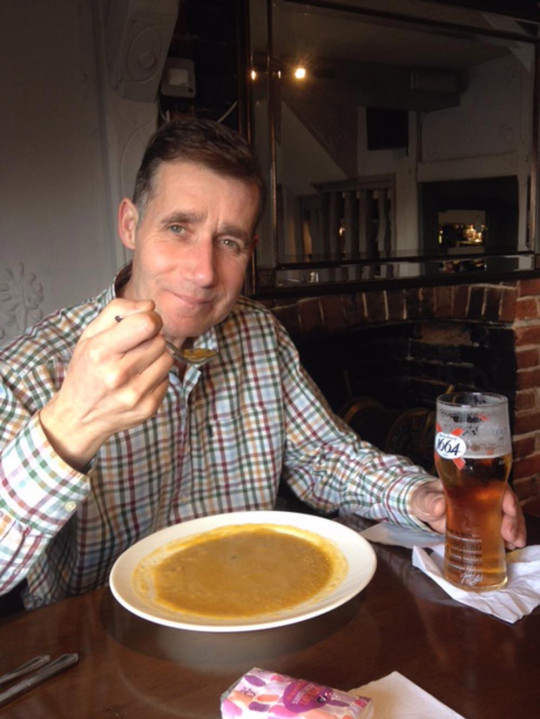 Mick having soup in a restaurant in March 2018. PA REAL LIFE/COLLECT